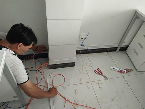 thợ thi công điện văn phòng