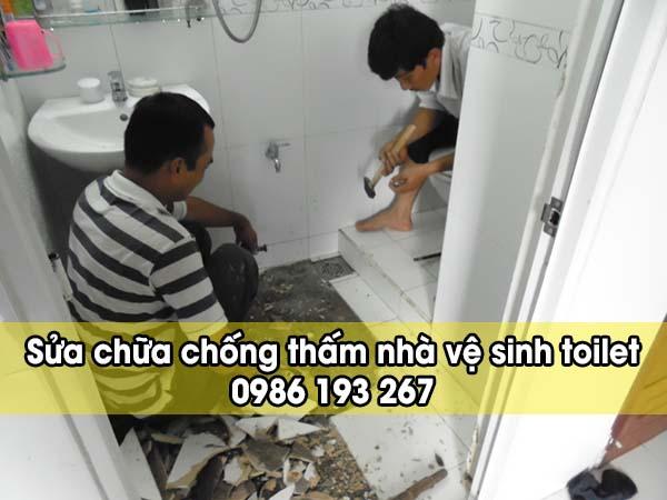 Sửa chữa chống thấm nhà vệ sinh toilet